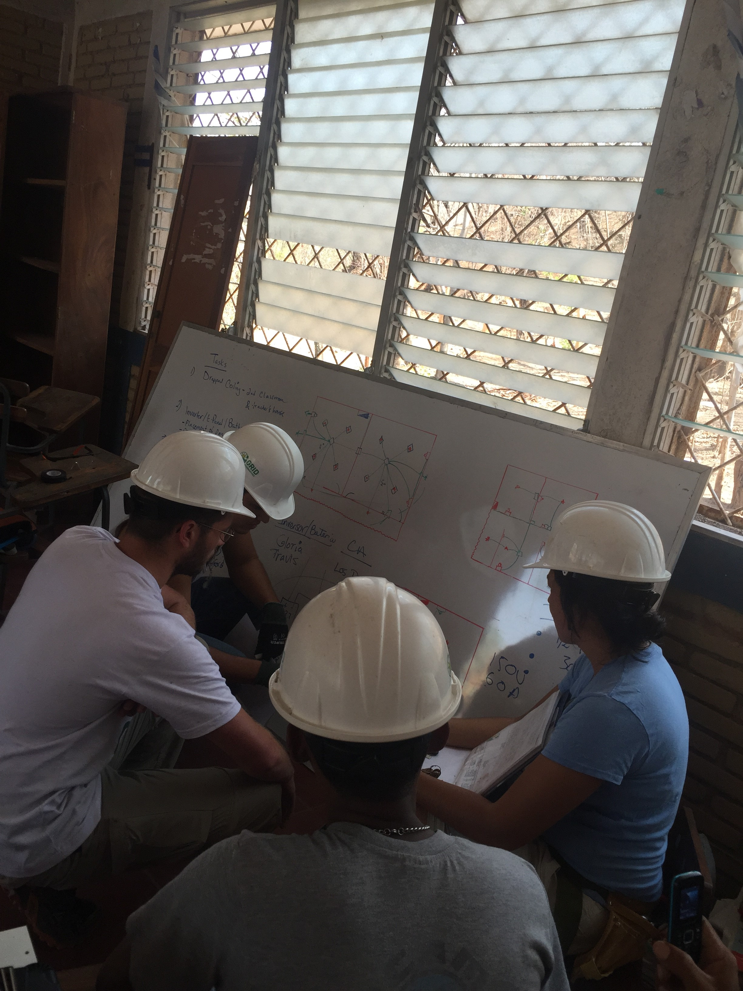 Student team reviews plans for installation in Nicaragua