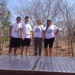 A happy crew following completion of the installation of the PV system.